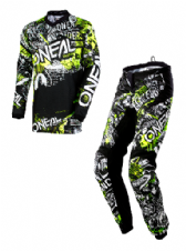 O`Neal ELEMENT Youth Jersey & Pant Combo ATTACK black/neon yellow